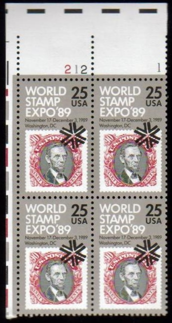 "Scott 2410 Plate Block (25 cents) <p> <a href=""/images/USA-Scott-2410-PB.jpg""><font color=green><b>View the image</a></b></font>"
