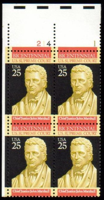 "Scott 2415 Plate Block (25 cents) <p> <a href=""/images/USA-Scott-2415-PB.jpg""><font color=green><b>View the image</a></b></font>"