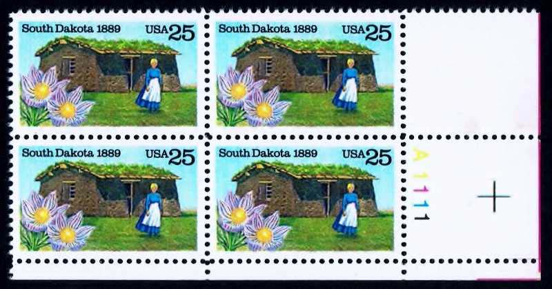 "Scott 2416 Plate Block (25 cents) <p> <a href=""/images/USA-Scott-2416-PB.jpg""><font color=green><b>View the image</a></b></font>"