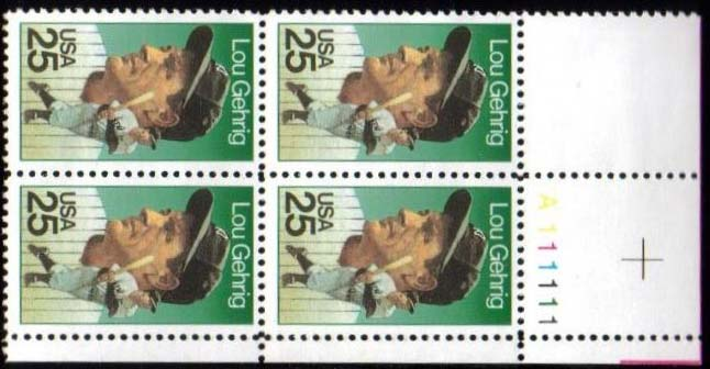 "Scott 2417 Plate Block (25 cents) <p> <a href=""/images/USA-Scott-2417-PB.jpg""><font color=green><b>View the image</a></b></font>"