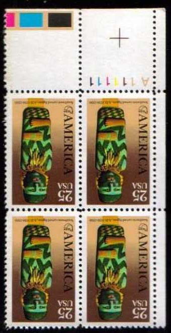 "Scott 2426 Plate Block (25 cents) <p> <a href=""/images/USA-Scott-2426-PB.jpg""><font color=green><b>View the image</a></b></font>"