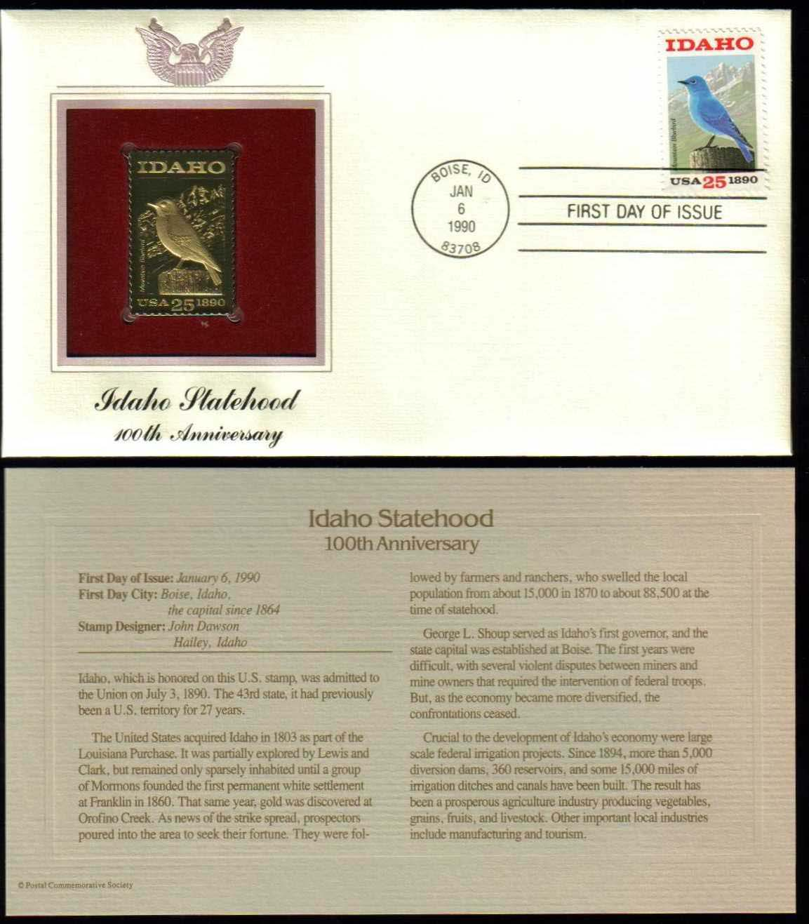 "Scott 2439 Golden Replica (22Kt) unaddressed FDC <p> <a href=""/images/USA-Scott-2439-Gold.jpg""><font color=green><b>View the image</a></b></font>"