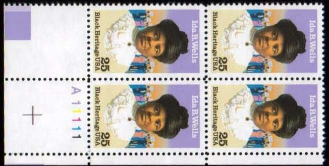 "Scott 2442 Plate Block (25 cents) <p> <a href=""/images/USA-Scott-2442-PB.jpg""><font color=green><b>View the image</a></b></font>"