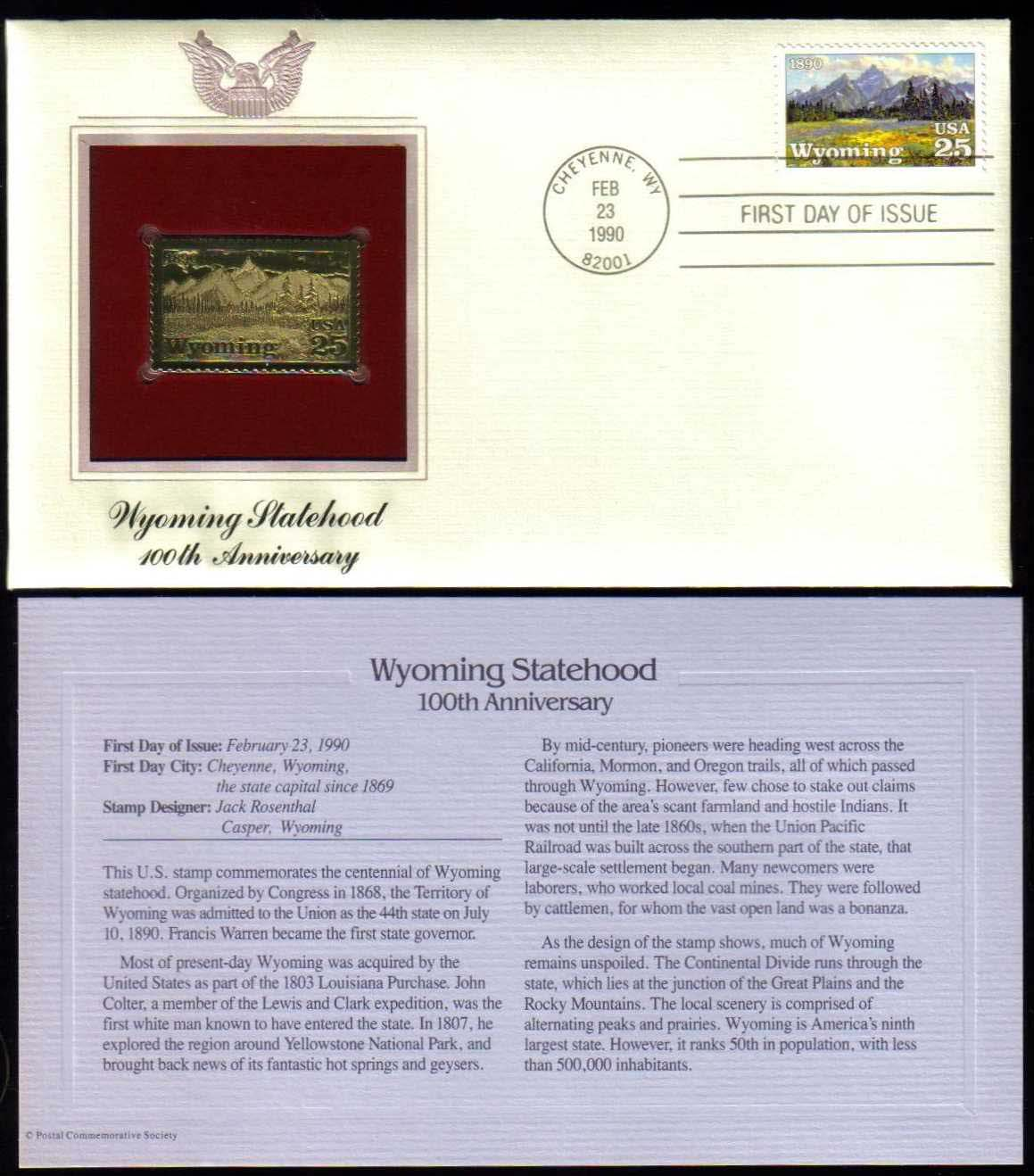 "Scott 2444 Golden Replica (22Kt) unaddressed FDC <p> <a href=""/images/USA-Scott-2444-Gold.jpg""><font color=green><b>View the image</a></b></font>"