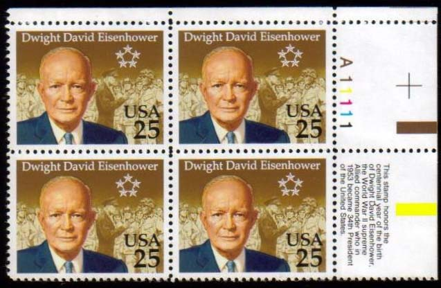 "Scott 2513 Plate Block (25 cents) <p> <a href=""/images/USA-Scott-2513-PB.jpg""><font color=green><b>View the image</a></b></font>"