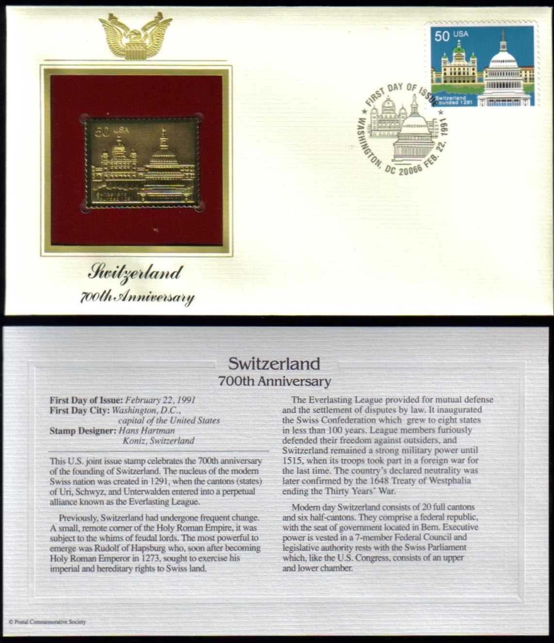 "Scott 2532 Golden Replica (22Kt) unaddressed FDC <p> <a href=""/images/USA-Scott-2532-Gold.jpg""><font color=green><b>View the image</a></b></font>"