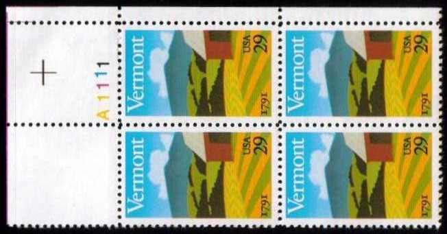 "Scott 2533 Plate Block (29 cents) <p> <a href=""/images/USA-Scott-2533-PB.jpg""><font color=green><b>View the image</a></b></font>"