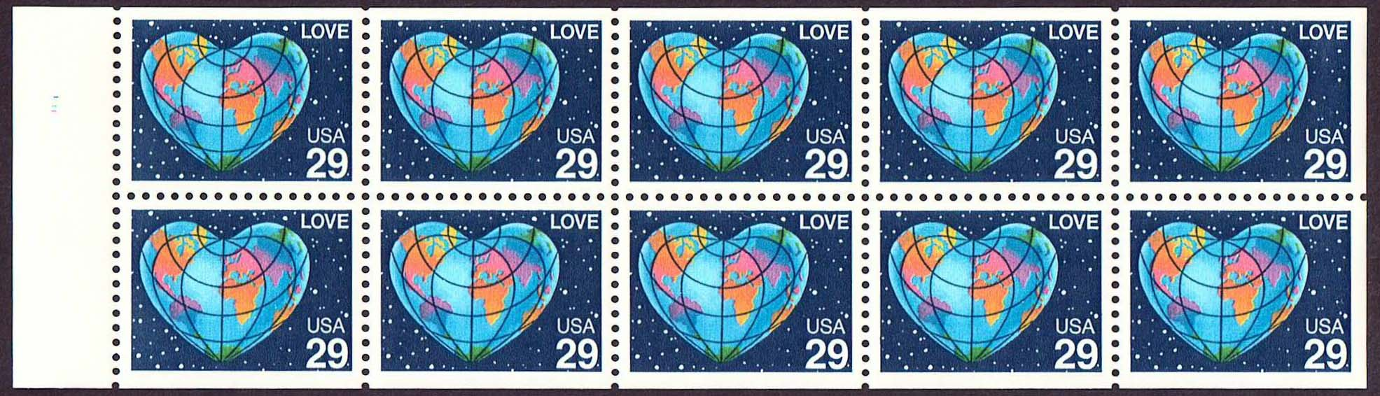 Scott 2536a Booklet pane of 10 (29 cents)