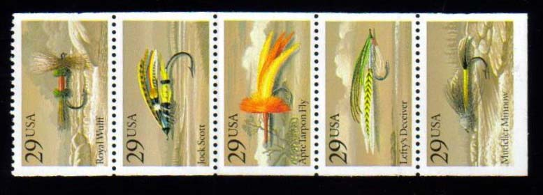 Scott 2545-2549a Booklet pane of 5 (29 cents)