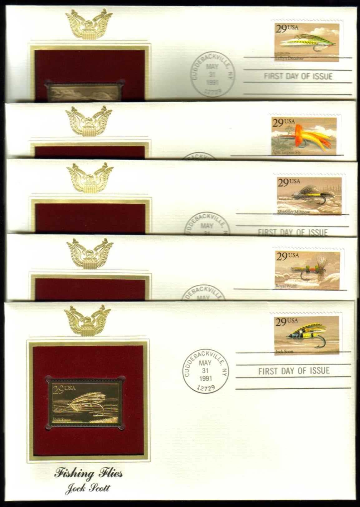 "Scott 2545-49 Golden Replica (22Kt) unaddressed FDC <p> <a href=""/images/USA-Scott-2545-2549-Gold.jpg""><font color=green><b>View the image</a></b></font>"