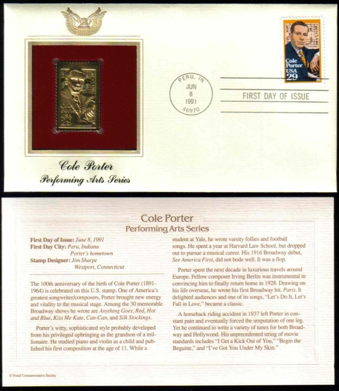 "Scott 2550 Golden Replica (22Kt) unaddressed FDC <p> <a href=""/images/USA-Scott-2550-Gold.jpg""><font color=green><b>View the image</a></b></font>"