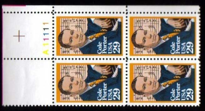 "Scott 2550 Plate Block (29 cents) <p> <a href=""/images/USA-Scott-2550-PB.jpg""><font color=green><b>View the image</a></b></font>"