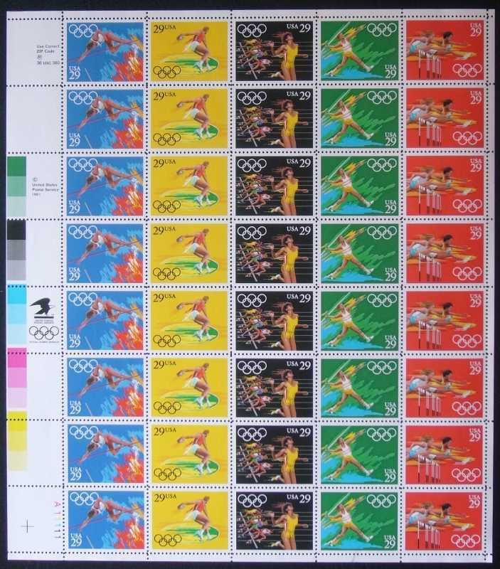 Scott 2553-2557 Sheet (29 cents)