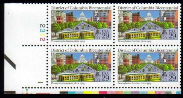 "Scott 2561 Plate Block (29 cents) <p> <a href=""/images/USA-Scott-2561-PB.jpg""><font color=green><b>View the image</a></b></font>"