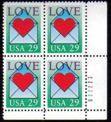 "Scott 2618 Plate Block (29 cents) <p> <a href=""/images/USA-Scott-2618-PB.jpg""><font color=green><b>View the image</a></b></font>"