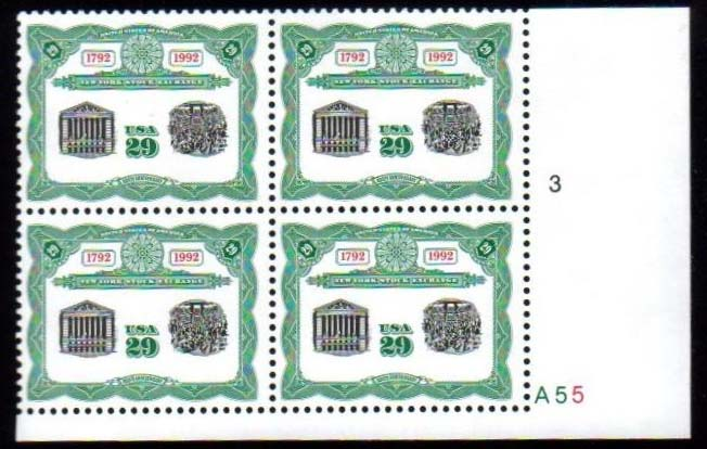 "Scott 2630 Plate Block (29 cents) <p> <a href=""/images/USA-Scott-2630-PB.jpg""><font color=green><b>View the image</a></b></font>"