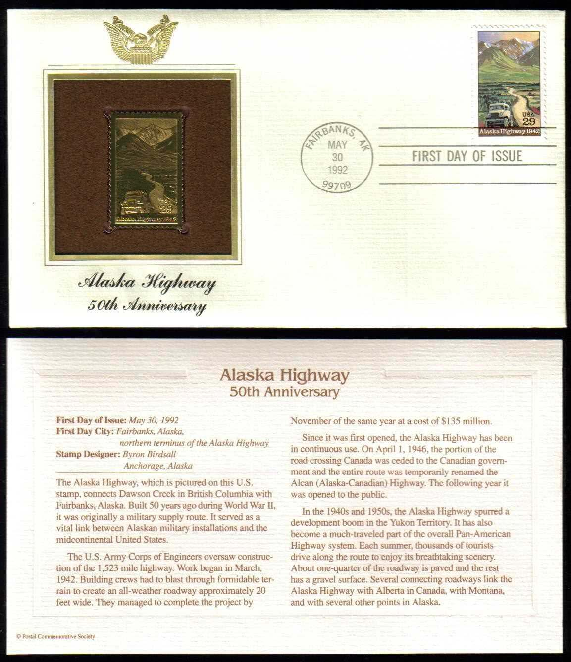 "Scott 2635 Golden Replica (22Kt) unaddressed FDC <p> <a href=""/images/USA-Scott-2635-Gold.jpg""><font color=green><b>View the image</a></b></font>"