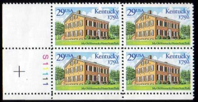 "Scott 2636 Plate Block (29 cents) <p> <a href=""/images/USA-Scott-2636-PB.jpg""><font color=green><b>View the image</a></b></font>"