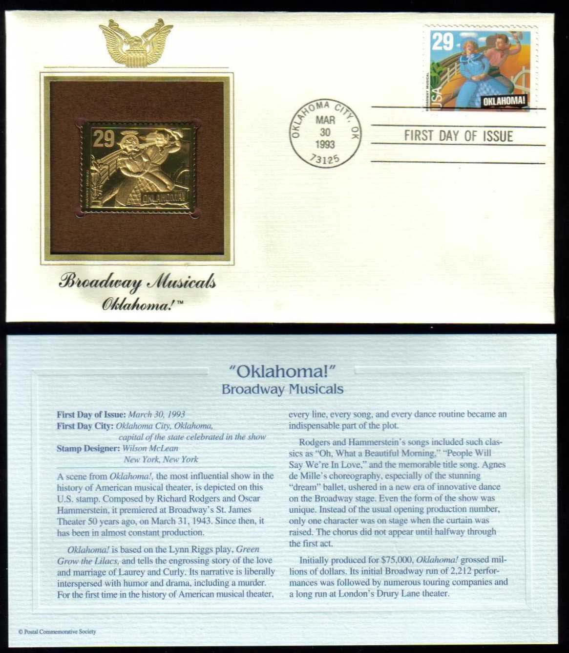 "Scott 2722 Golden Replica (22Kt) unaddressed FDC <p> <a href=""/images/USA-Scott-2722-Gold.jpg""><font color=green><b>View the image</a></b></font>"
