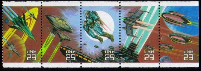 "Scott 2741-2745 Booklet pane of 5, (29 cents) <p> <a href=""/images/USA-Scott-2741-2745(937).jpg""><font color=green><b>View the image</a></b></font>"