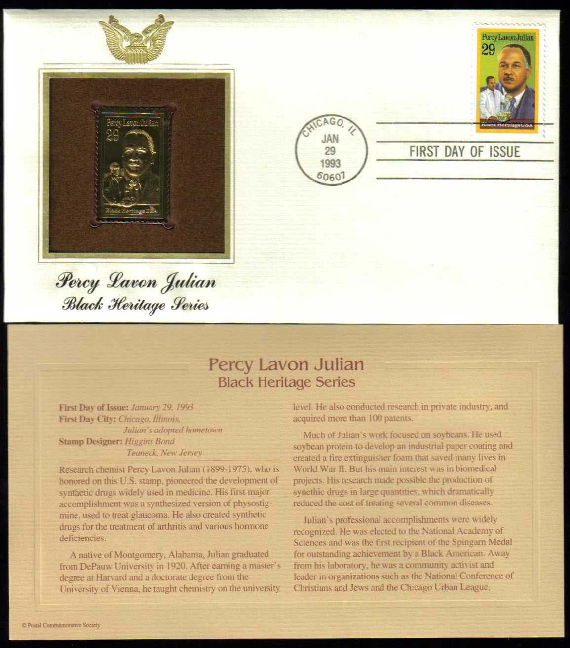 "Scott 2746 Golden Replica (22Kt) unaddressed FDC, <p> <a href=""/images/USA-Scott-2746-Gold.jpg""><font color=green><b>View the image</a></b></font>"