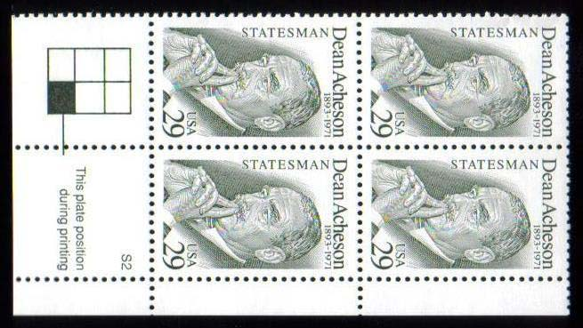 "Scott 2755 Plate Block (29 cents) <p> <a href=""/images/USA-Scott-2755-PB.jpg""><font color=green><b>View the image</a></b></font>"