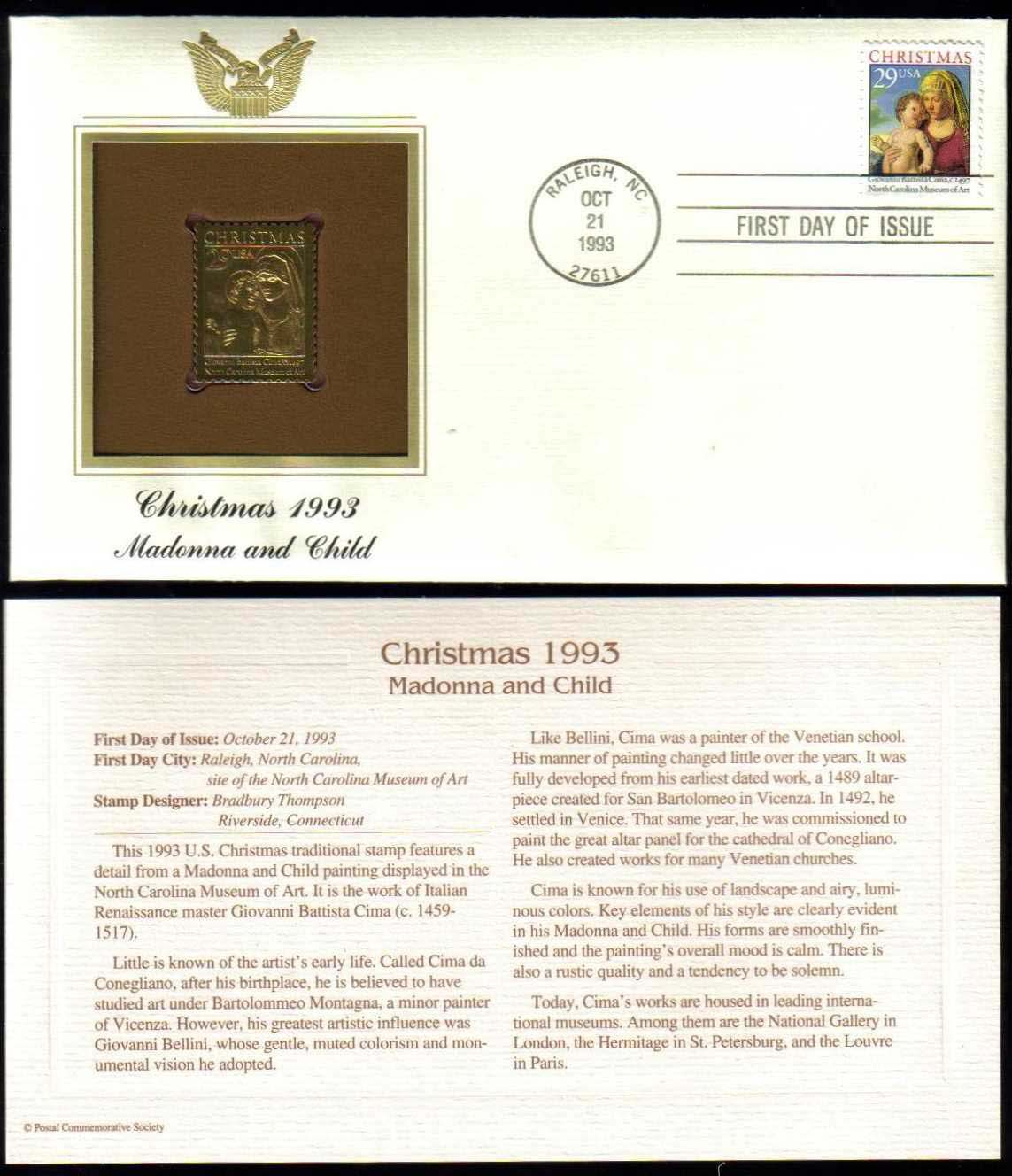 "Scott 2789 Golden Replica (22Kt) unaddressed FDC <p> <a href=""/images/USA-Scott-2789-Gold.jpg""><font color=green><b>View the image</a></b></font>"