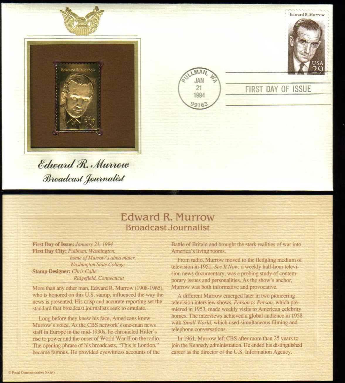 "Scott 2812 Golden Replica (22Kt) unaddressed FDC, <p> <a href=""/images/USA-Scott-2812-Gold.jpg""><font color=green><b>View the image</a></b></font>"