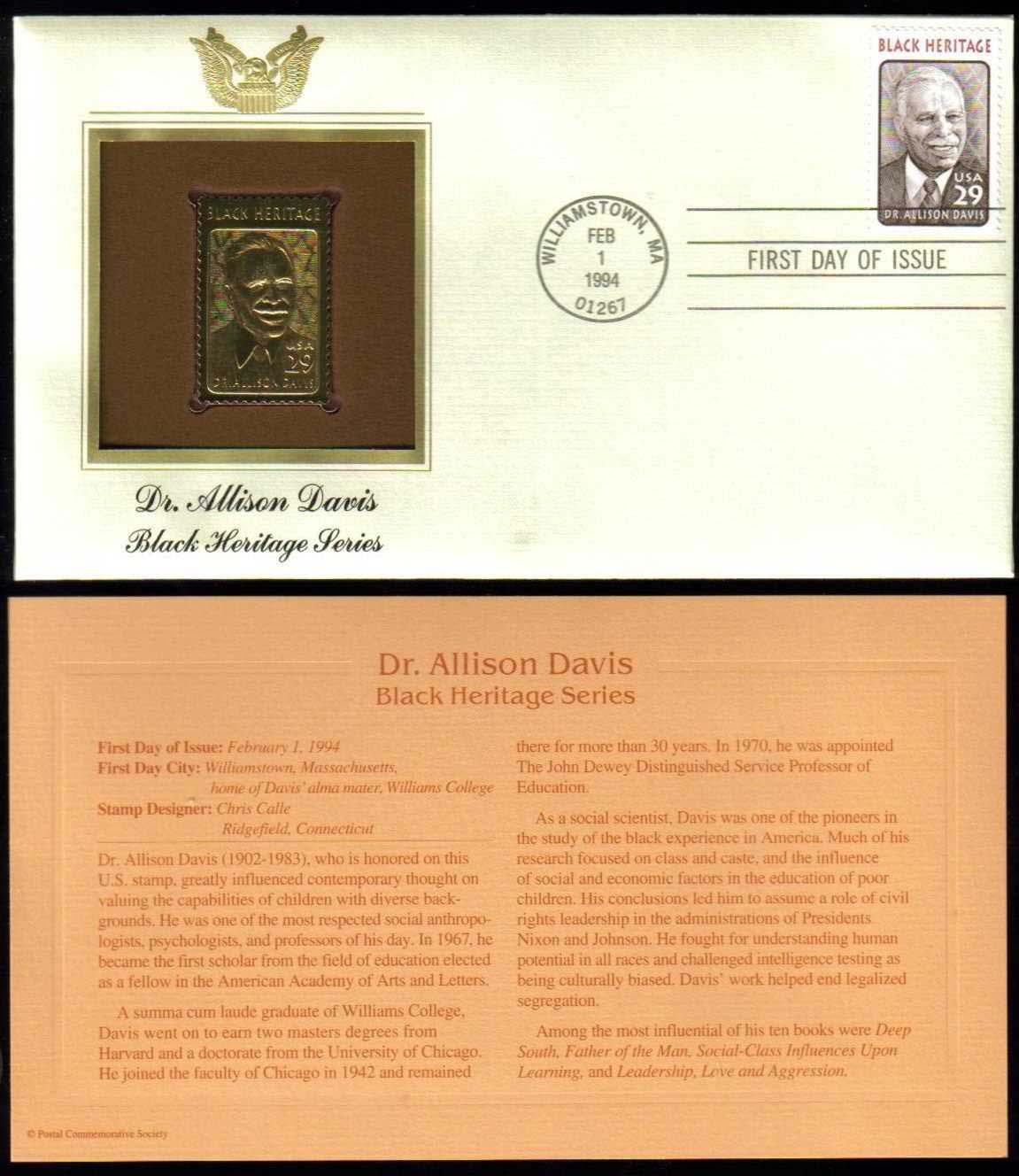 "Scott 2816 Golden Replica (22Kt) unaddressed FDC, <p> <a href=""/images/USA-Scott-2816-Gold.jpg""><font color=green><b>View the image</a></b></font>"