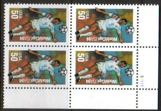 "Scott 2836 Plate Block (50 cents) <p> <a href=""/images/USA-Scott-2836-PB.jpg""><font color=green><b>View the image</a></b></font>"