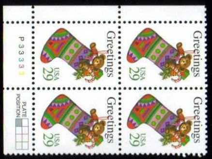 "Scott 2872 Plate Block (29 cents) <p> <a href=""/images/USA-Scott-2872-PB.jpg""><font color=green><b>View the image</a></b></font>"