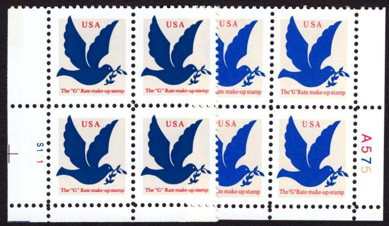 "Scott 2878 Plate Block (3 cents) Dark blue, see image showing difference <p> <a href=""/images/USA-Scott-2877-2878-PB.jpg""><font color=green><b>View the image</a></b></font>"