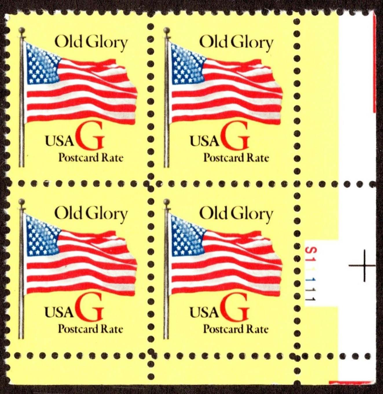 "Scott 2880 Plate Block (20 cents) Yellow paper, G is <font color=red> red </font> <p> <a href=""/images/USA-Scott-2880-PB.jpg""><font color=green><b>View the image</a></b></font>"