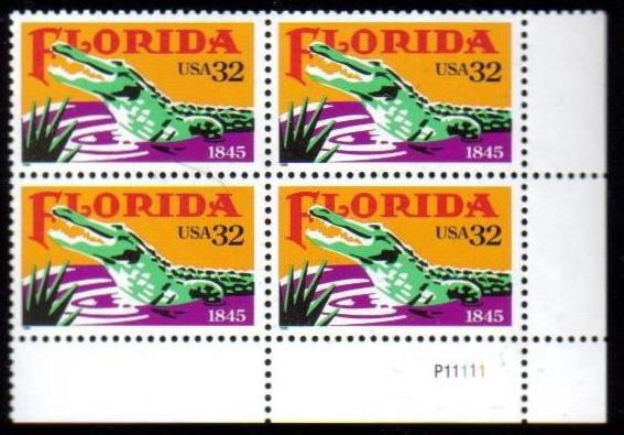 "Scott 2950 Plate Block of 4 (32 cents) <p> <a href=""/images/USA-Scott-2950-PB.jpg""><font color=green><b>View the image</a></b></font>"