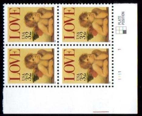 "Scott 2957 Plate Block of 4 (32 cents) <p> <a href=""/images/USA-Scott-2957-PB.jpg""><font color=green><b>View the image</a></b></font>"