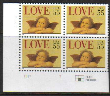 "Scott 2958 Plate Block (55 cents) <p> <a href=""/images/USA-Scott-2958-PB.jpg""><font color=green><b>View the image</a></b></font>"