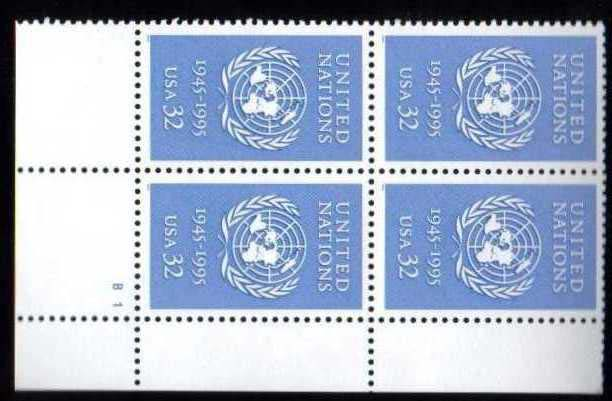 "Scott 2974 Plate Block of 4 (32 cents) <p> <a href=""/images/USA-Scott-2974-PB.jpg""><font color=green><b>View the image</a></b></font>"