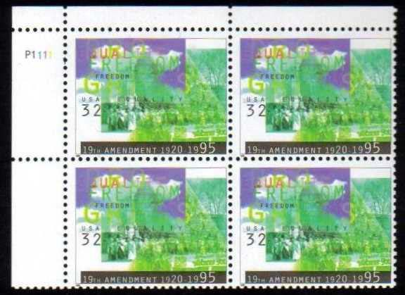 "Scott 2980 Plate Block of 4 (32 cents) <p> <a href=""/images/USA-Scott-2980-PB.jpg""><font color=green><b>View the image</a></b></font>"