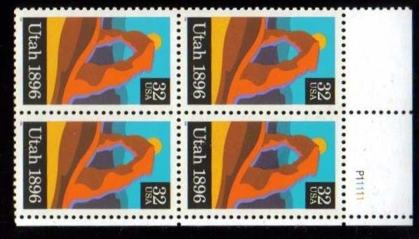 "Scott 3024 Plate Block of 4 (32 cents) <p> <a href=""/images/USA-Scott-3024-PB.jpg""><font color=green><b>View the image</a></b></font>"
