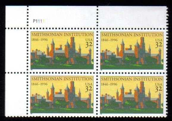 "Scott 3059 Plate Block of 4 (32 cents) <p> <a href=""/images/USA-Scott-3059-PB.jpg""><font color=green><b>View the image</a></b></font>"