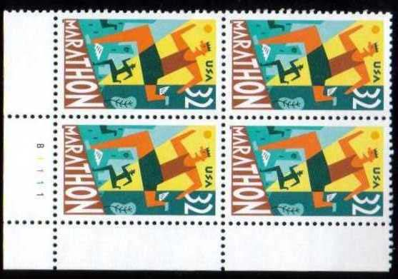 "Scott 3067 Plate Block of 4 (32 cents) <p> <a href=""/images/USA-Scott-3067-PB.jpg""><font color=green><b>View the image</a></b></font>"