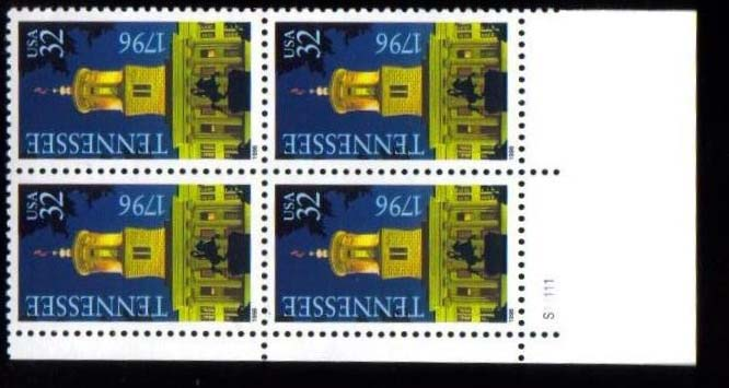 "Scott 3070 Plate Block of 4 (32 cents) <p> <a href=""/images/USA-Scott-3070-PB.jpg""><font color=green><b>View the image</a></b></font>"