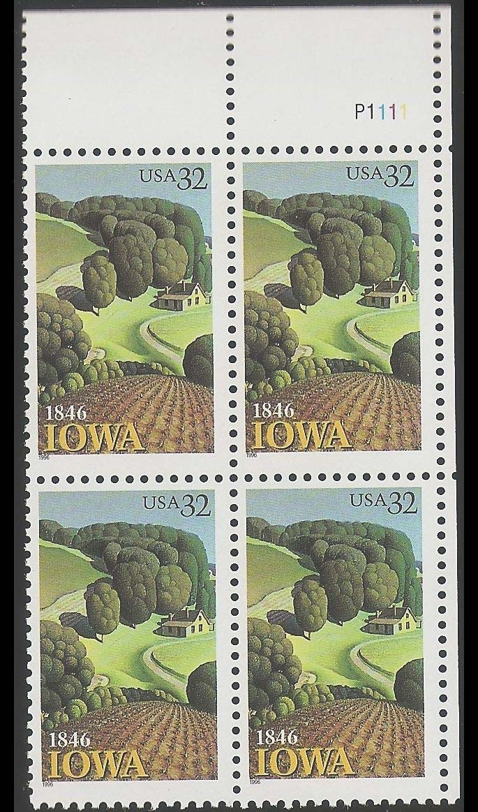 "Scott 3088 Plate Block of 4, (32 cents) <p> <a href=""/images/USA-Scott-3088-PB.jpg""><font color=green><b>View the image</a></b></font>"