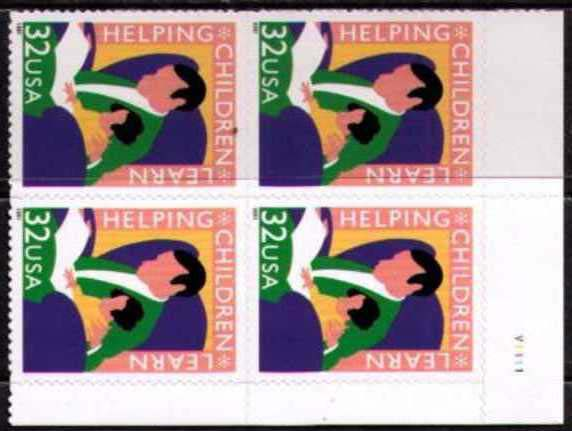 "Scott 3125 Plate Block of 4 (32 cents) <p> <a href=""/images/USA-Scott-3125-PB.jpg""><font color=green><b>View the image</a></b></font>"