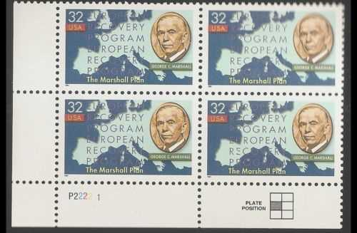 "Scott 3141 Plate Block of 4 (32 cents) <p> <a href=""/images/USA-Scott-3141-PB.jpg""><font color=green><b>View the image</a></b></font>"