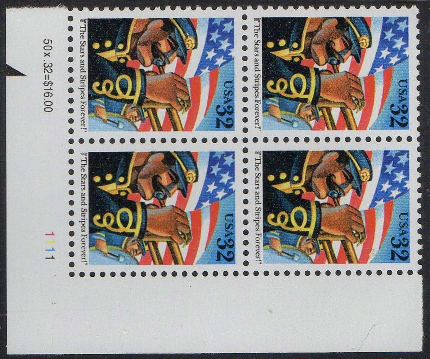 "Scott 3153 Plate Block of 4 (32 cents) <p> <a href=""/images/USA-Scott-3153-PB.jpg""><font color=green><b>View the image</a></b></font>"