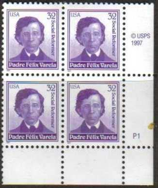 "Scott 3166 Plate Block of 4  (32 cents) <p> <a href=""/images/USA-Scott-3166-PB.jpg""><font color=green><b>View the image</a></b></font>"