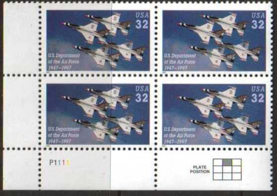 "Scott 3167 Plate Block of 4 (32 cents) <p> <a href=""/images/USA-Scott-3167-PB.jpg""><font color=green><b>View the image</a></b></font>"