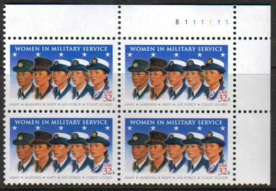 "Scott 3174, Plate Block of 4  (32 cents) <p> <a href=""/images/USA-Scott-3174-PB.jpg""><font color=green><b>View the image</a></b></font>"
