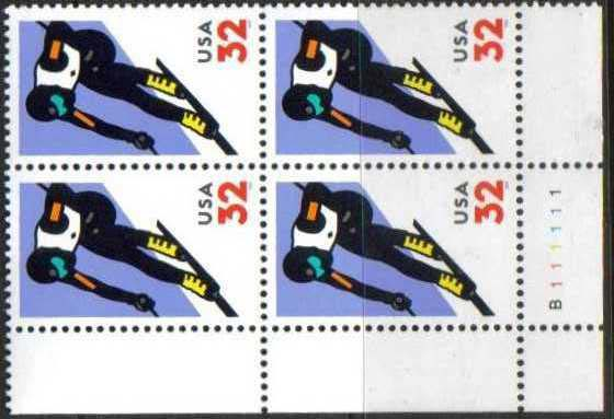 "Scott 3180 Plate Block of 4 (32 cents) <p> <a href=""/images/USA-Scott-3180-PB.jpg""><font color=green><b>View the image</a></b></font>"